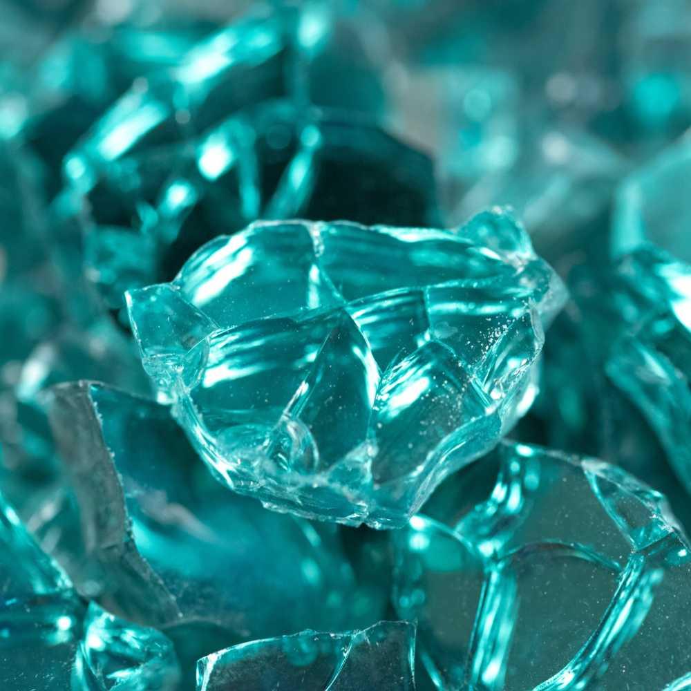 Aqua Blue 0.64 CM 20 LBS Crystal Reflective Fireglass