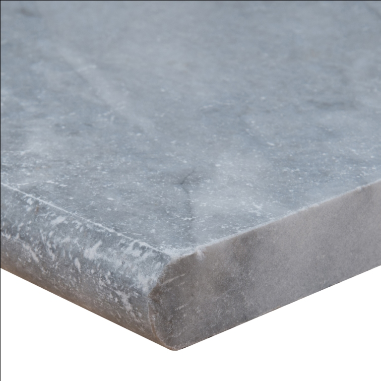Atlantic Blue 16x24 Tumbled One Long Side Bullnose Pool Coping