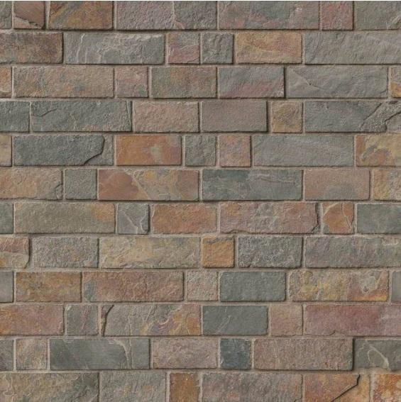 California Gold Tumbled Brick Pattern Mosaic
