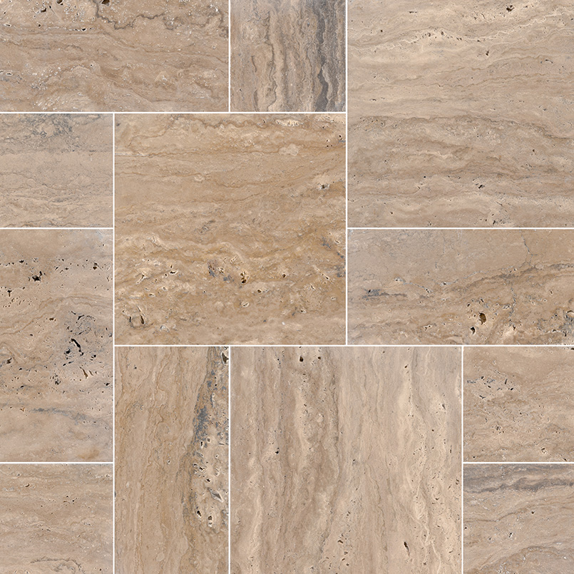 Classico Brown 150 Sft Tumbled French Mini Pattern Pavers