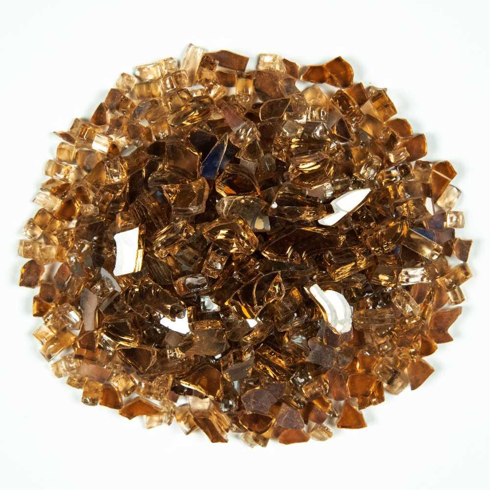 Copper Brown 0.64 CM 20 LBS Crystal Reflective Fireglass