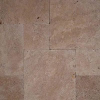 Coliseum French Pattern 16 Sft x 10 Kits Tumbled Travertine Paver