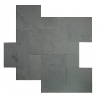 Montauk Black French Pattern 16 Sqft x 10 Kits 2 Inch Natural Cleft Paver