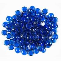 Sapphire Blue Round 1.27 CM 10 LBS Crystal Reflective Fireglass
