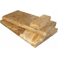 Tuscany Scabas 12X24 Tumbled Bullnose Pool Coping