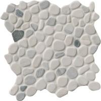 Black and White Pebbles Interlock 12x12 Tumbled