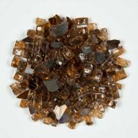 Copper Brown 1.27 CM 10 LBS Crystal Reflective Fireglass