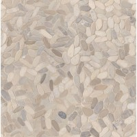 Rio Lago Sliced Truffle Tumbled Marble Pebble