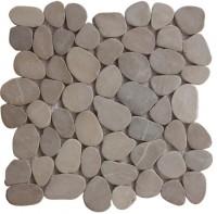 Tan Natural 12X12 Interlocking Indonesia Flat Pebble Tile