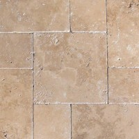 Tuscany Chocolade French Pattern 16 Sft x 10 Kits Honed Unfilled Tumbled  Paver