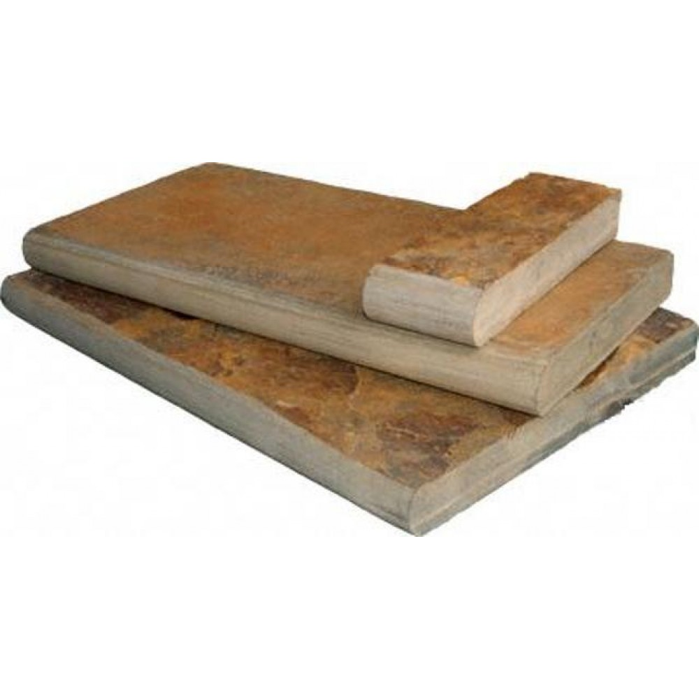 California Gold 16X24 Natural Cleft One Long Side Bullnose Pool Coping