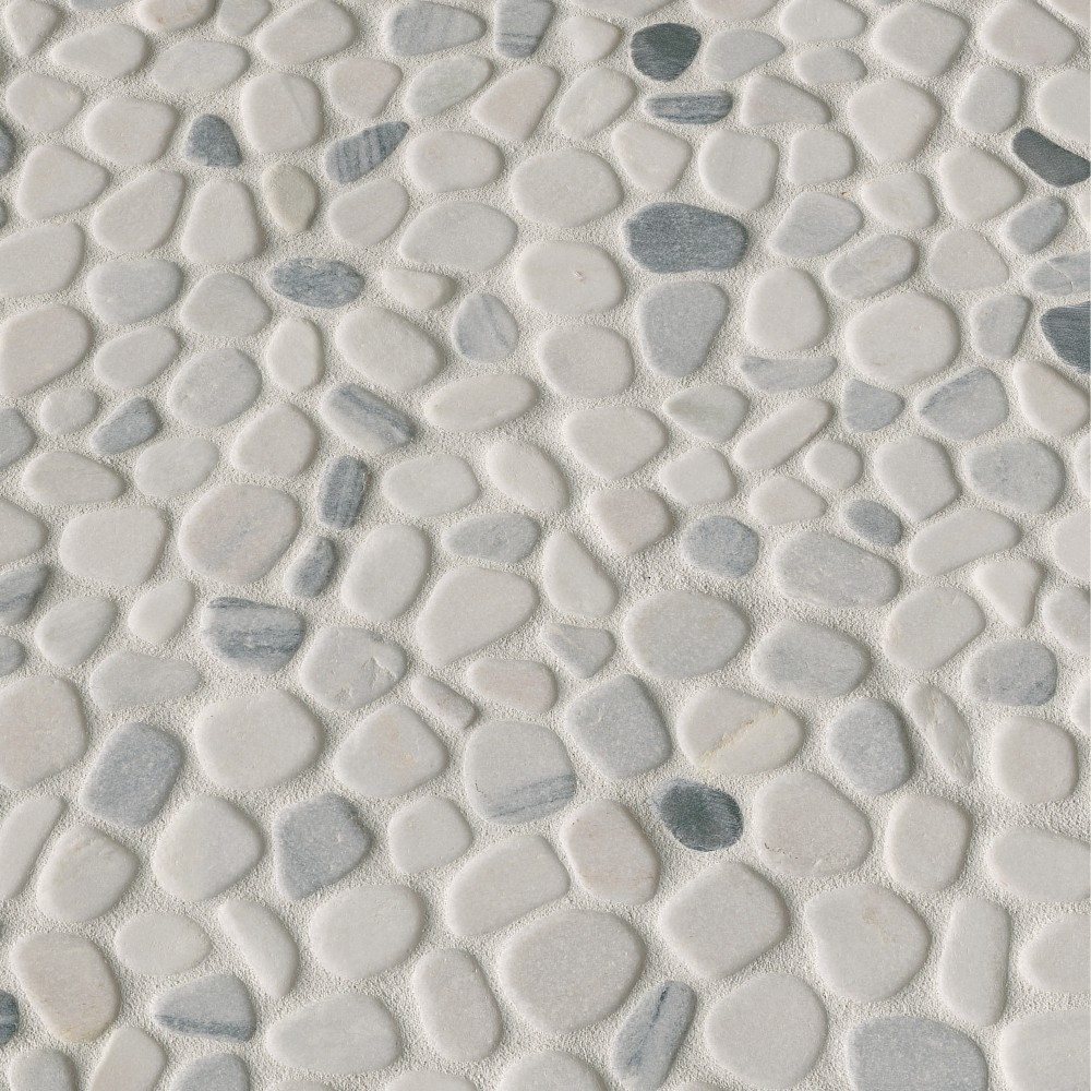 Black and White Pebbles Interlock 12x12 Tumbled