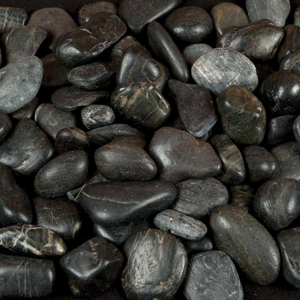 Black Polished 2-3 CM Beach Pebbles