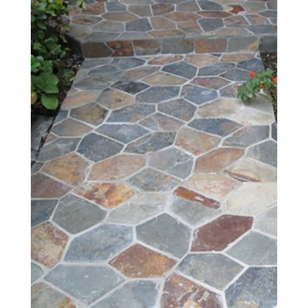 California Gold Hardscaping Natural Cut Slate Flagstone