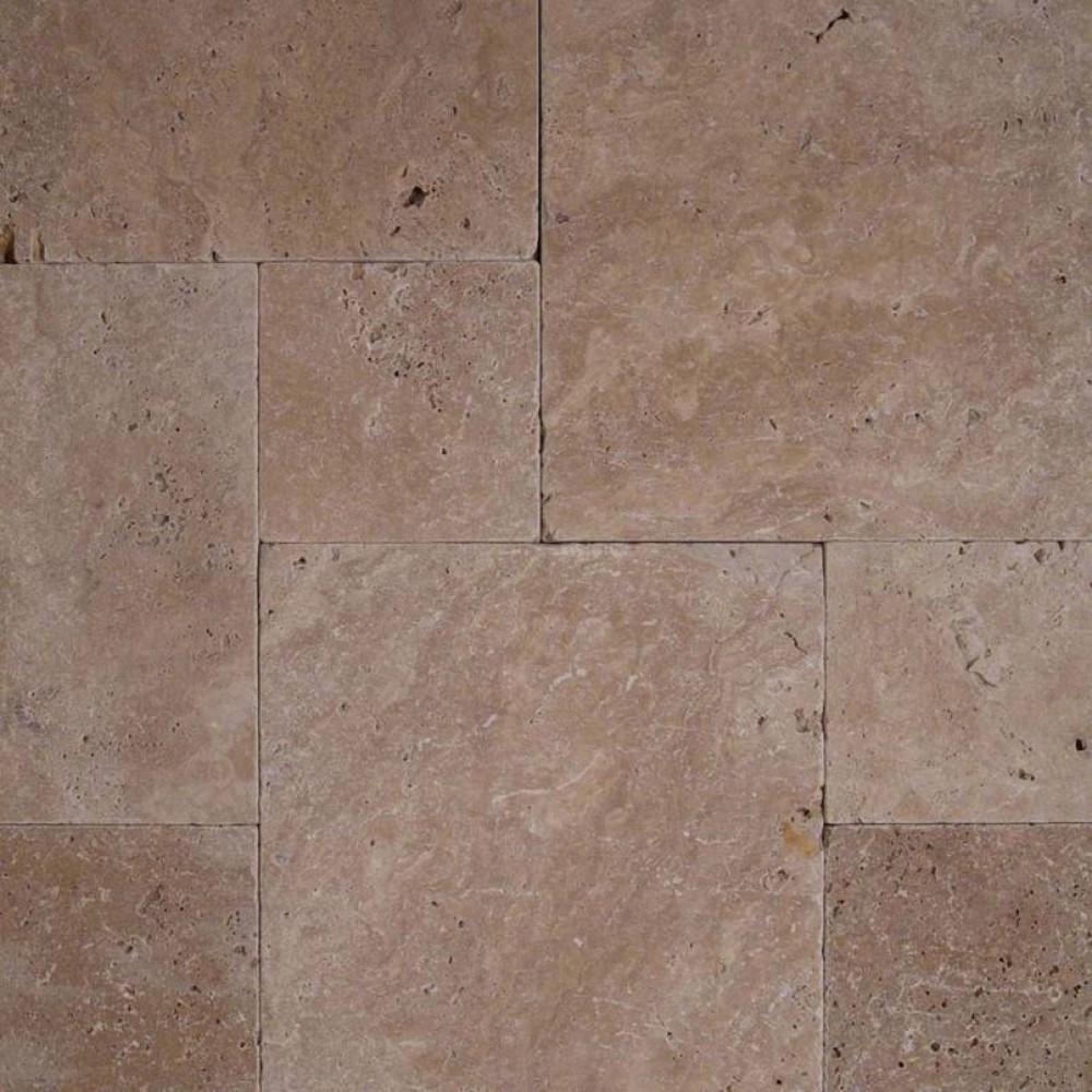 Coliseum French Pattern 16 Sft x 10 Kits Tumbled Travertine Paver