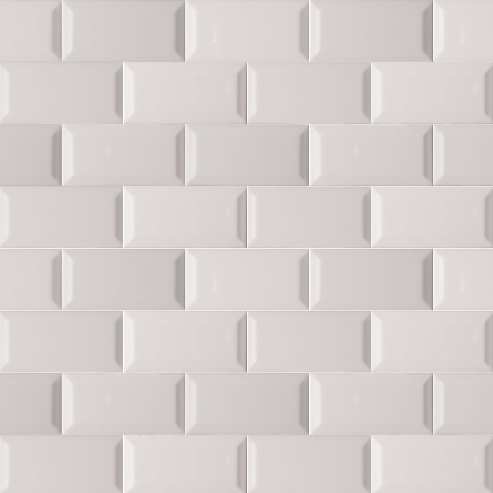 Domino Gray 3X6 Beveled Glossy Subway Tile