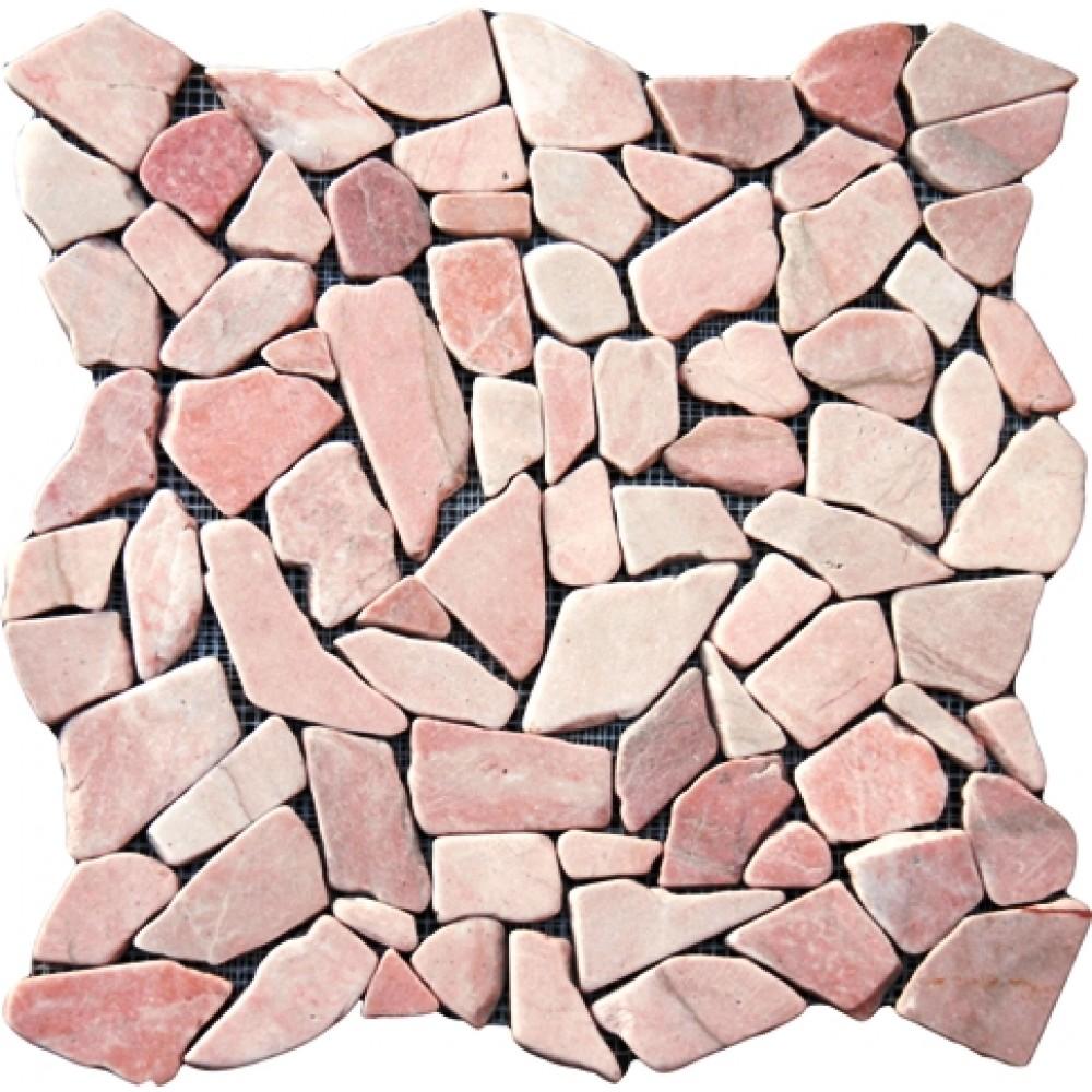 Flat Buff Pebbles 16X16 Tumbled