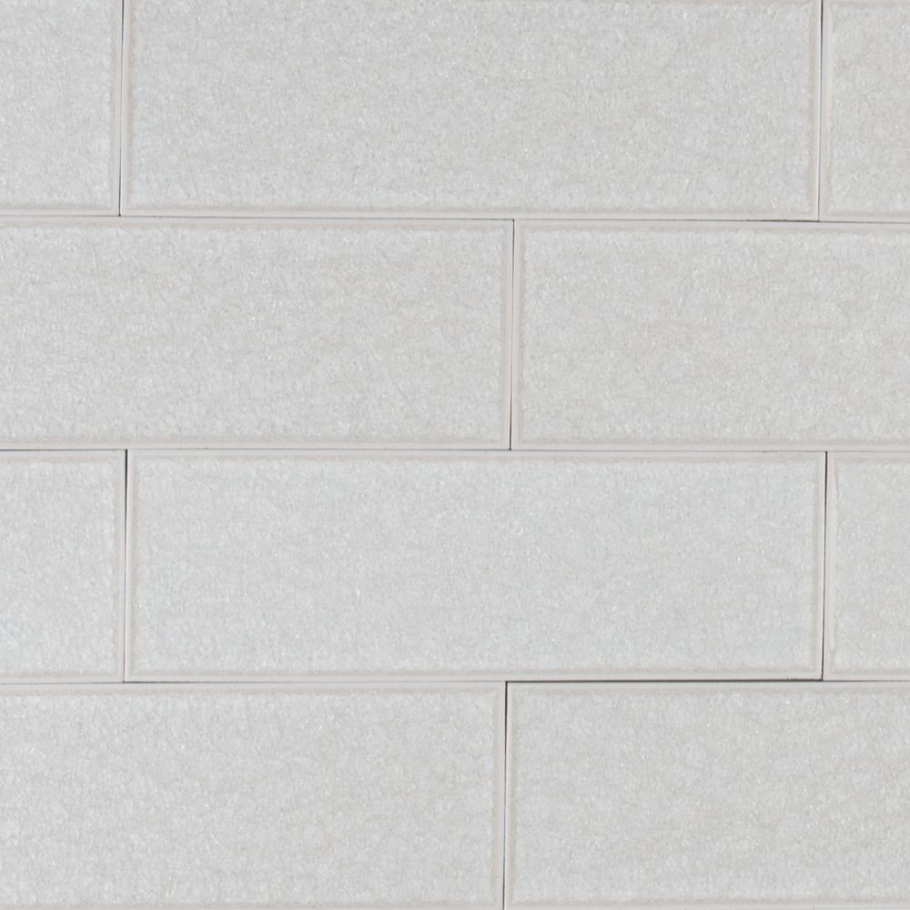 Frosted Icicle 3x9 Glass Subway Tile