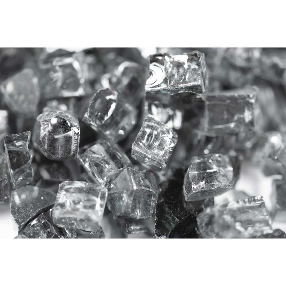 Galaxy Black 1.27 CM 20 LBS Crystal Reflective Fireglass