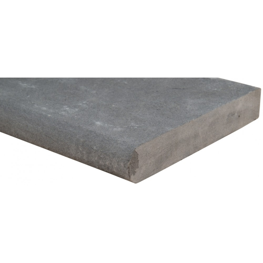 Mountain Bluestone 12x12x1.2 Flamed One Side Bullnose Pool Coping