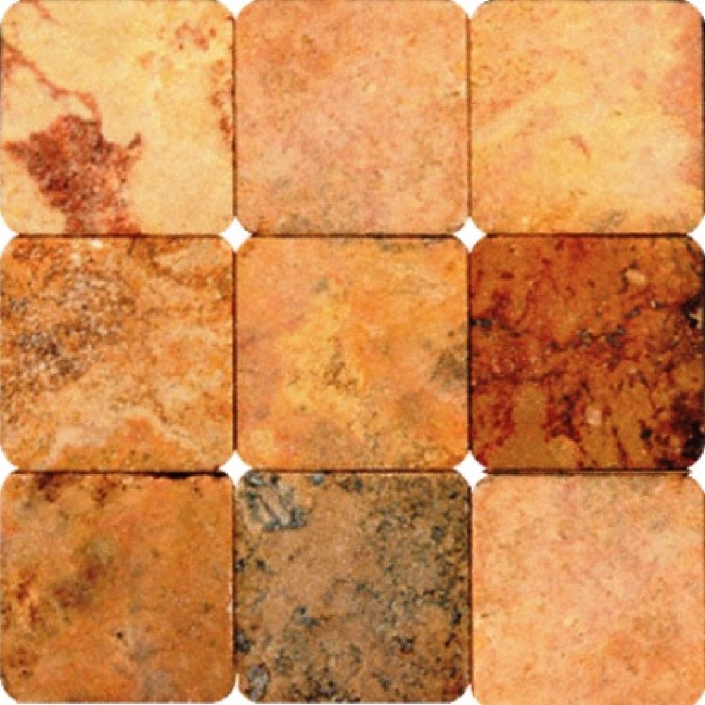 Peach Travertine 4X4 Tumbled