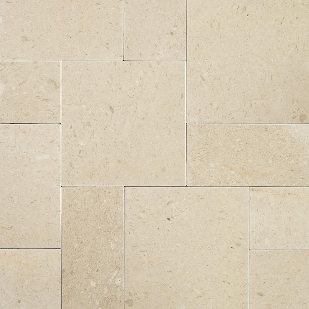 Pearl 16X24X3 Tumbled Limestone Paver-Wet
