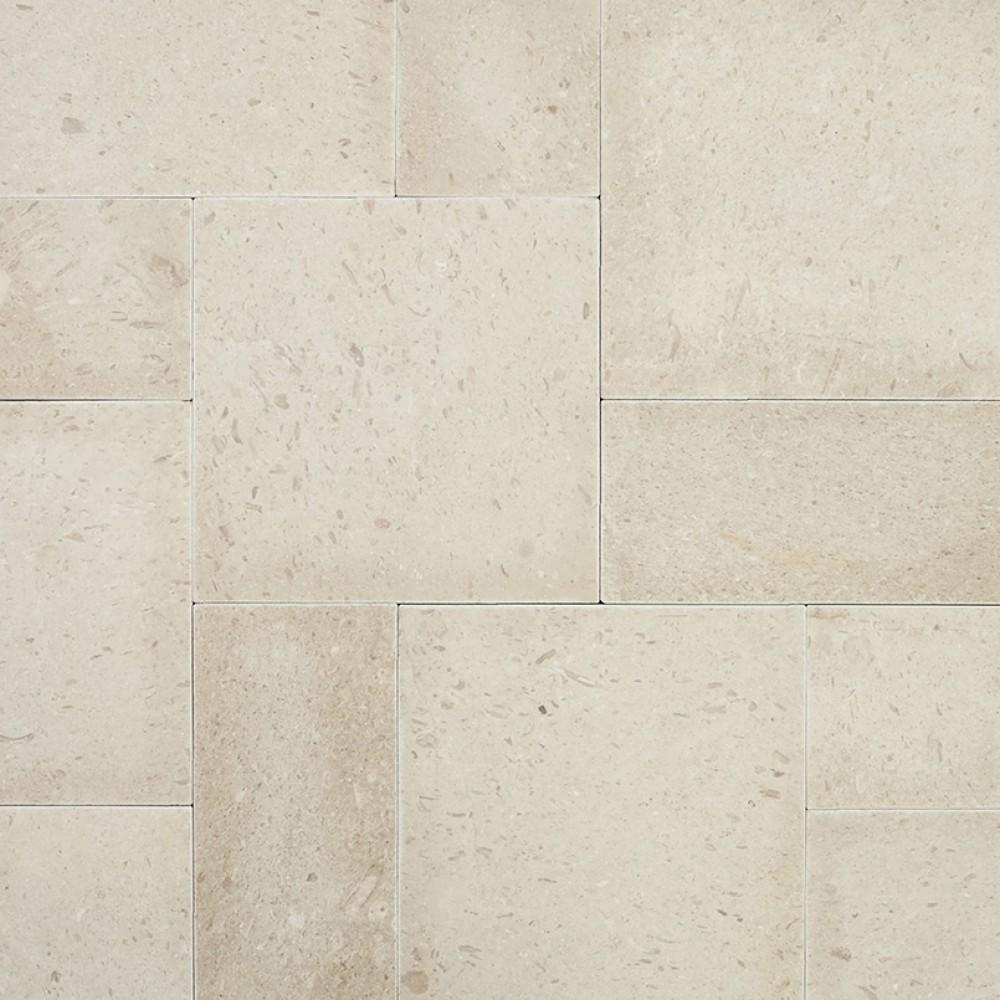 Pearl 16X24X3 Tumbled Limestone Paver-Dry