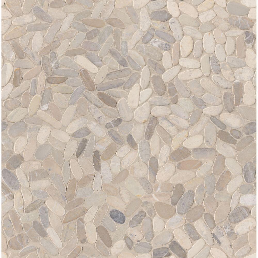 Rio Lago Sliced Truffle Tumbled Marble Pebble
