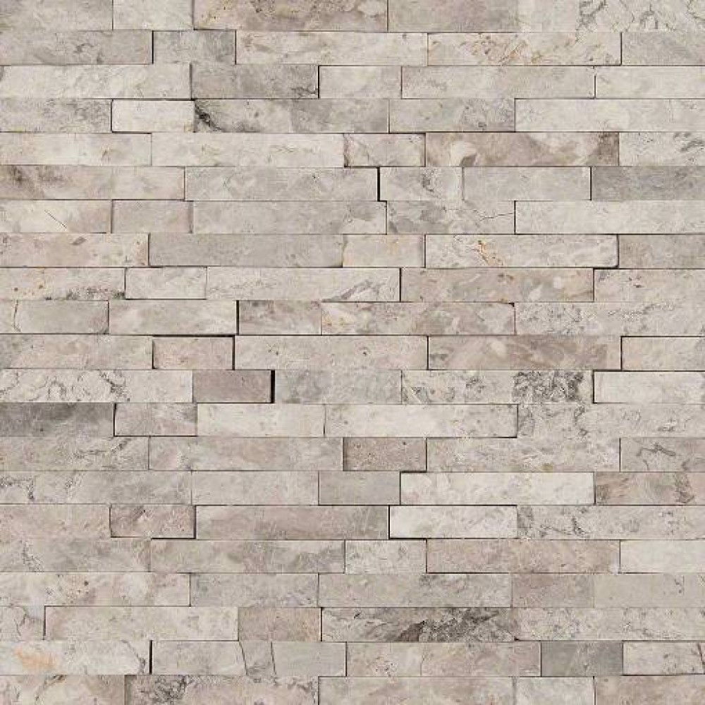 Tundra Gray Splitface Interlocking Pattern Mosaic