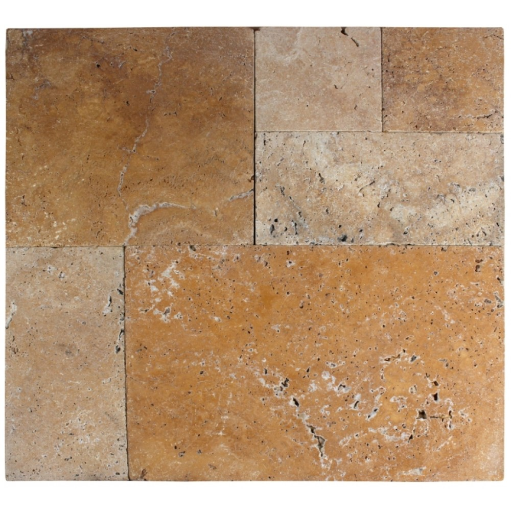Tuscany Riviera French Pattern 16 Sft x 10 Kits Tumbled Paver