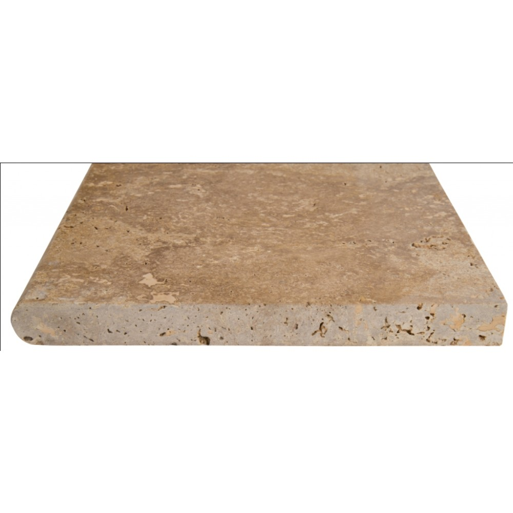 Tuscany Walnut 16X24X1.2 Honed Unfilled Bullnose Pool Coping