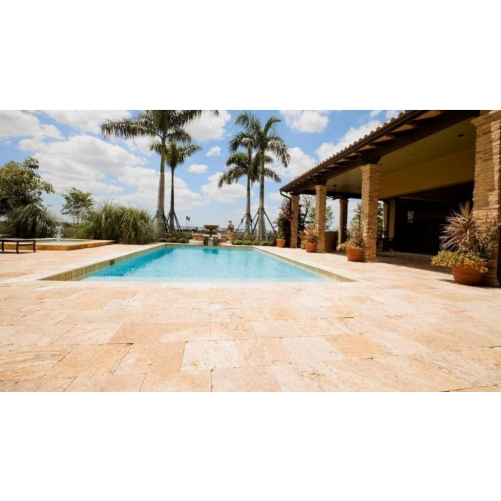 Walnut Rustico 6x6 Honed Tumbled Unfilled Paver