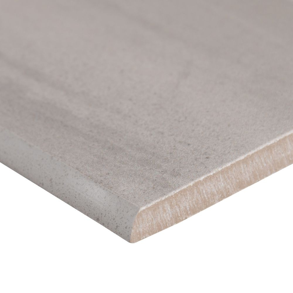 Watercolor Grigio 3.5X24 Matte Bullnose Porcelain TIle