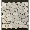 Carrara White 12X12 Interlocking Flat Pebble Tile