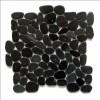 Charcoal 12X12 Interlocking Flat Pebble Tile
