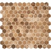 Emperador Light Hexagon 1x1 Polished Msoaic