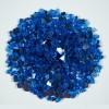 Sapphire Blue 0.64 CM 20 LBS Crystal Reflective Fireglass