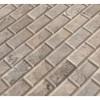 Silver Travertine 2x4 Honed and Beveled Mosaic