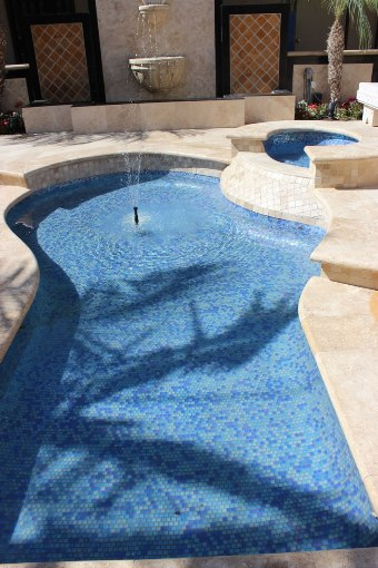 Dark Blue Blend Pool Tiles