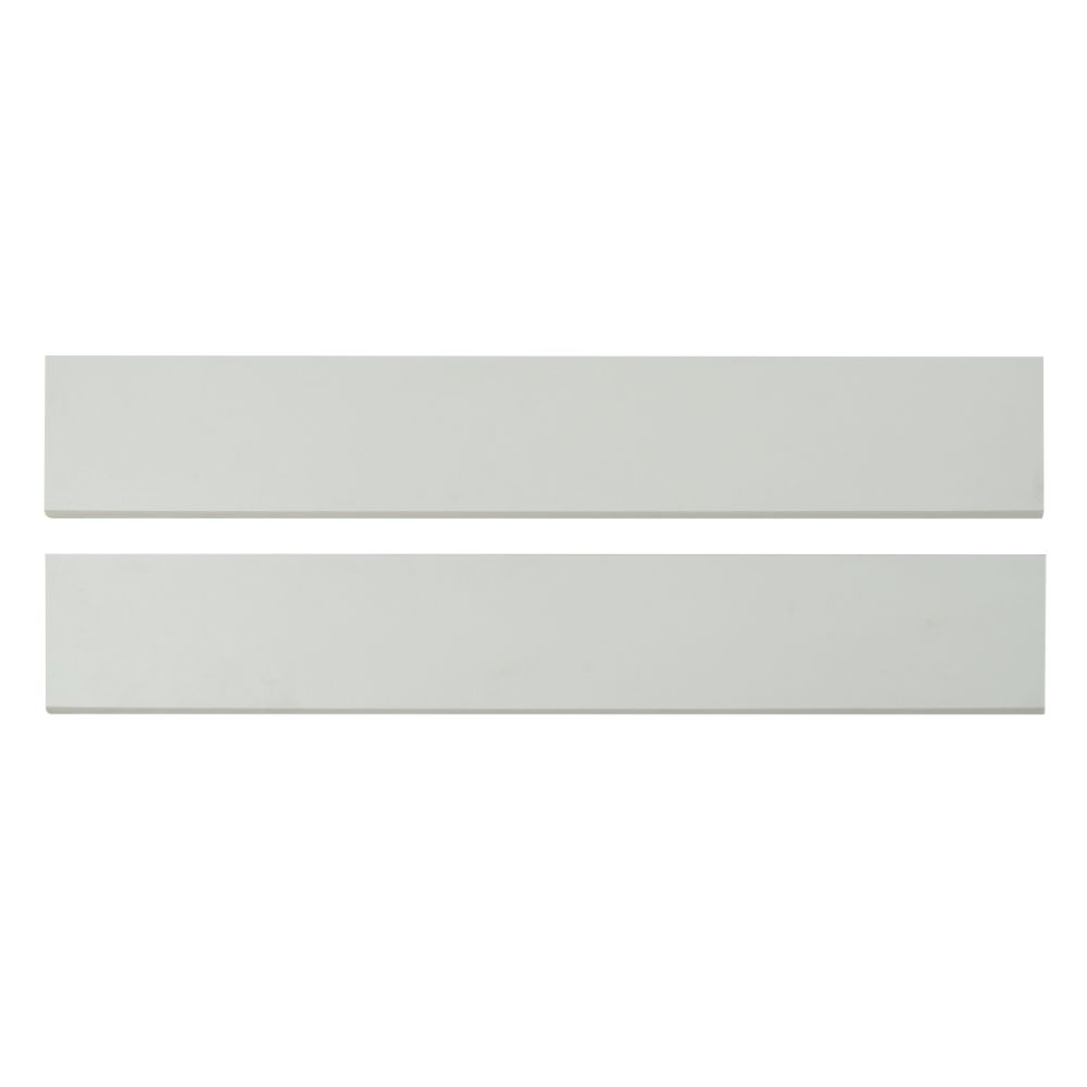 Domino White Bullnose 4x24 Matte Porcelain Tile