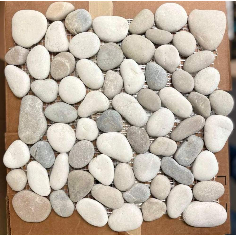 Jave 12X12 Interlocking Sea Pebble Tile