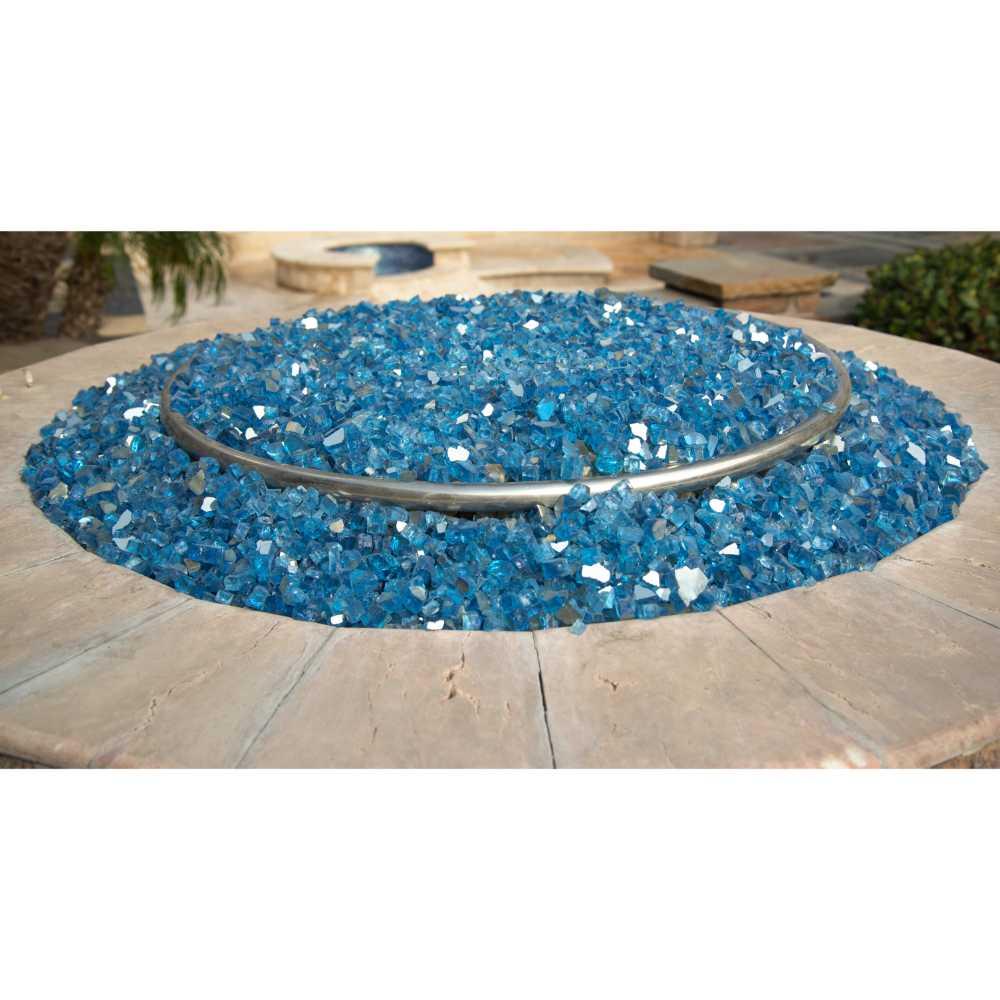 Marine Blue 1.27 CM 20 LBS Crystal Reflective Fireglass