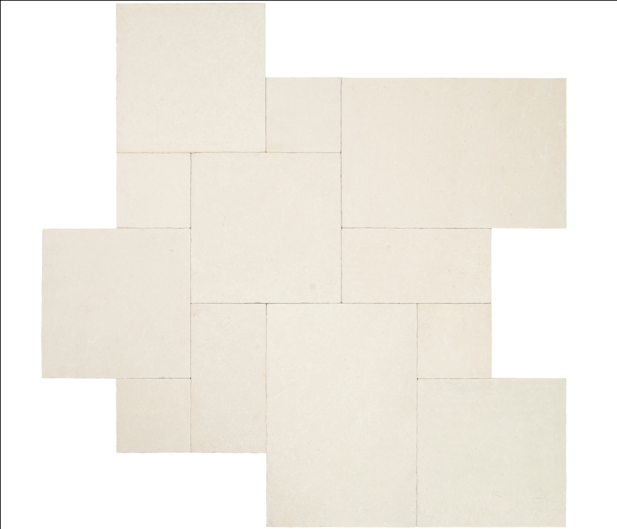 Monaco French Pattern 16 Sft x 10 Tumbled Limestone Pavers