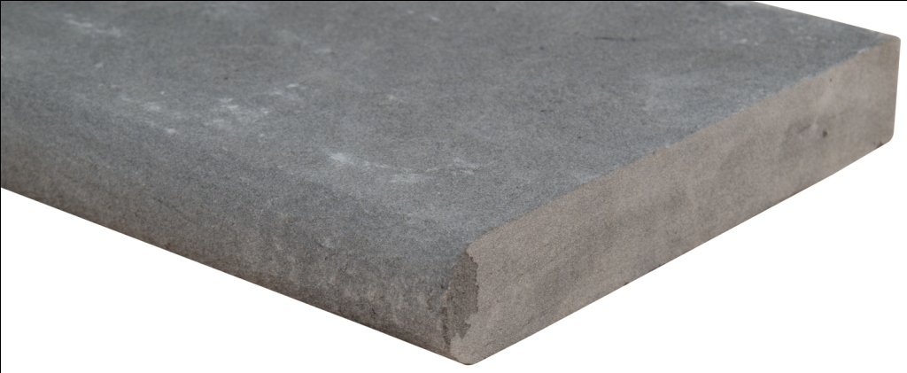 Mountain Bluestone 12x24 Flamed One Long Side Bullnose Pool Coping