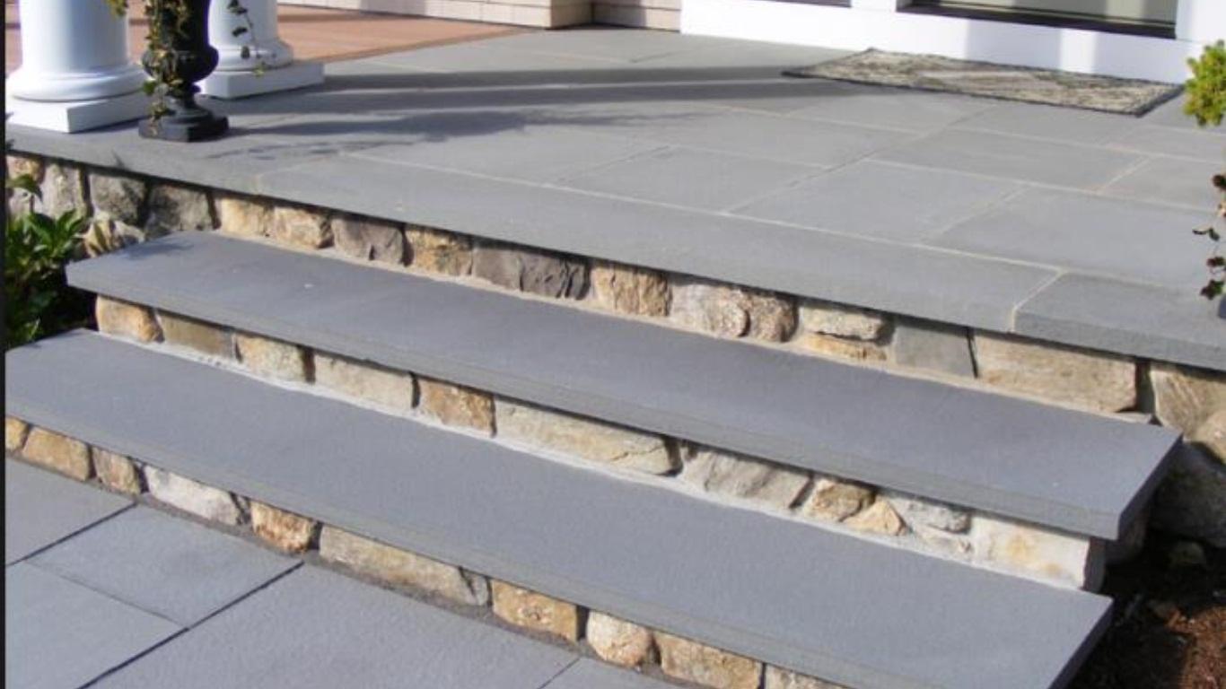 Mountain Bluestone 12x96 Hand-cut Sandstone Tread