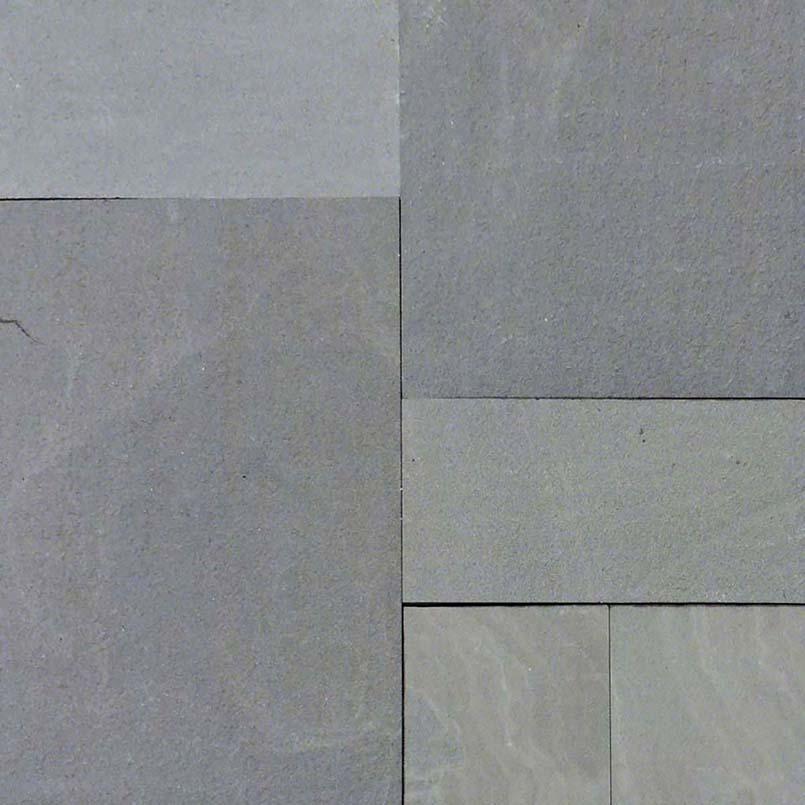 Mountain Bluestone 160 sft Flamed Versailles Pattern Pavers