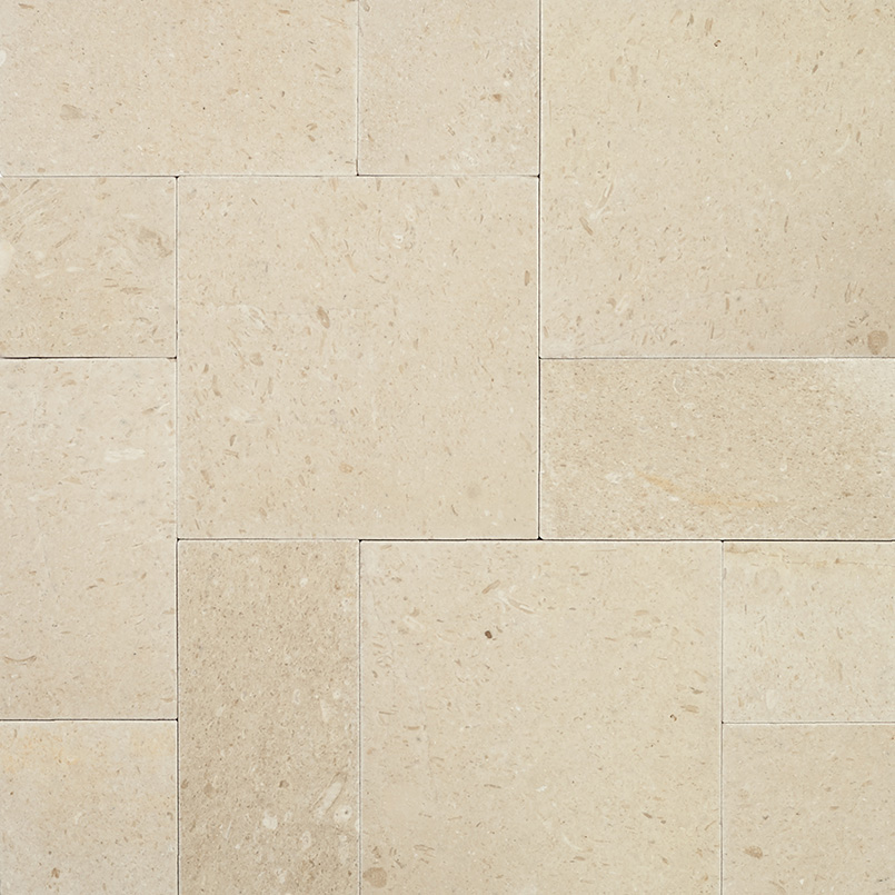 Pearl 160 Sft Tumbled French Pattern Limestone Pavers