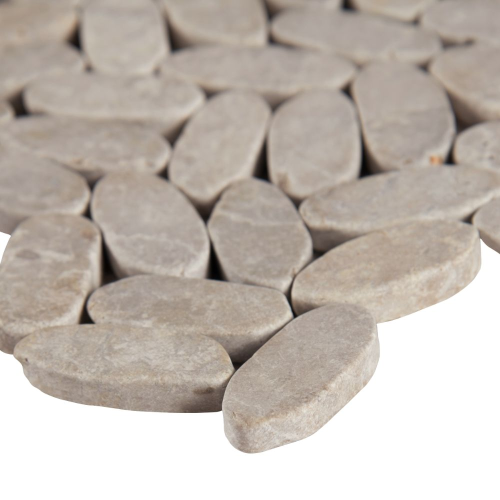 Rio Lago Sliced Ash Tumbled Marble Pebble