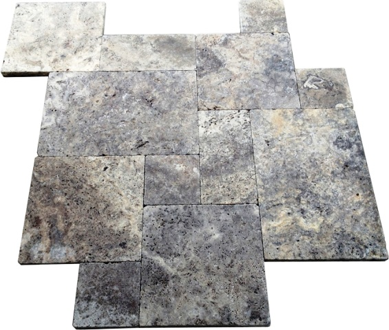 Silver Travertine Paver 16X24 Tumbled Travertine Paver