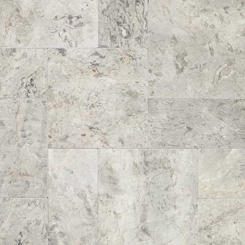 Silver Leaf 16X24 Tumbled Travertine Paver